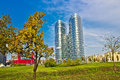 Modern twin tower in City of Zagreb Royalty Free Stock Photo