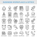 Modern Universal Business Office Icons Set Royalty Free Stock Photo