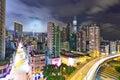 Modern urban landscape at night Royalty Free Stock Photo