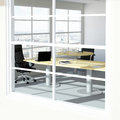 Modern urban office room empty with skyline Royalty Free Stock Photo