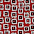 Modern vector background with gritty square patterns in red gray and black seamless Royalty Free Stock Image