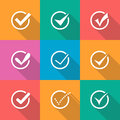 Modern vector confirm icons set Royalty Free Stock Photo