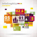 Modern vector elements for infographics with cloud clouds and banners Stock Photos
