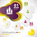 Modern vector elements for infographics with clouds Royalty Free Stock Images