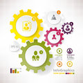 Modern vector elements for infographics cogwheels with Royalty Free Stock Images