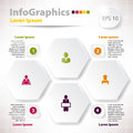 Modern vector elements for infographics with rhomb rhombus business design Royalty Free Stock Photo
