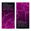 2 of modern vertical scientific banners. Molecular structure of DNA and neurons. Geometric abstract background. Medicine