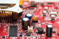 Modern videocard close-up Royalty Free Stock Photo