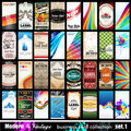 Modern & Vintage Business Card Collection - Set 1 Royalty Free Stock Photography
