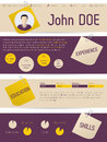 Modern vitae resume with tags and paper clips