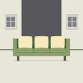 Modern vlak ontwerp sofa interior Stock Foto's