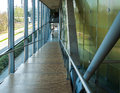 Modern walkway in a school Royalty Free Stock Photos