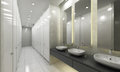 Modern washroom and toilets Royalty Free Stock Photo