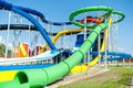Modern water park, aqua park with extreme slides Royalty Free Stock Photo