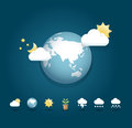 Modern weather icons color Design / can be used for infographics Royalty Free Stock Photo