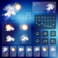 Modern weather symbols and interface design vector illustration Royalty Free Stock Images