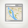 Modern web browser window with abstract city map Stock Image