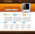 Modern web site template Royalty Free Stock Photos