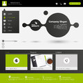 Modern website template minimalistic design for business in editable vector Royalty Free Stock Image