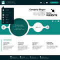 Modern website template minimalistic design for business in editable vector Royalty Free Stock Images