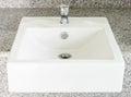 Modern white basin Royalty Free Stock Photo
