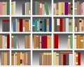 Modern White Bookcase Royalty Free Stock Photos