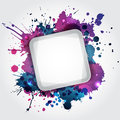 Modern white frame with blue blots and violet Royalty Free Stock Photography