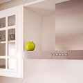 Modern white kitchen Stock Image