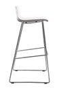 Modern White Plastic Bar Stool. Designer bar chair isolated on white