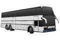 Modern white tour bus. Royalty Free Stock Photo