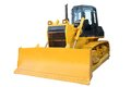 The modern yellow bulldozer Royalty Free Stock Photo