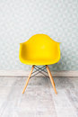 Modern yellow chair Royalty Free Stock Photo