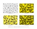 Polygonal abstract color banner template