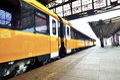 Train departures fron Prague main train station Royalty Free Stock Photo