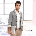 Modern young arabian businessman at office Royalty Free Stock Photo
