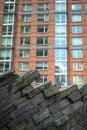 Moderna lägenheter med vaggar att landskap för vägg Royaltyfri Fotografi