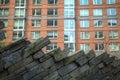 Moderna lägenheter med vaggar att landskap för vägg Arkivbilder