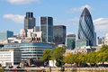 Moderne London-Stadt-Skyline Stockfoto