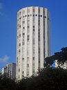 Modernist building with cylindrical shape at ipiranga avenue são paulo brazil Royalty Free Stock Image