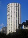 Modernist building with cylindrical shape at ipiranga avenue são paulo brazil Royalty Free Stock Image