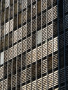 Modernist facade details of the of a building at paulista avenue são paulo brazil Stock Images