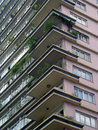 Modernist residential building details of a Royalty Free Stock Photo