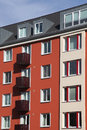 Modernized colorful town house kiel germany Royalty Free Stock Photos