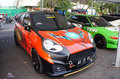Modified car cars were exhibited in solo city central java indonesia Royalty Free Stock Photography
