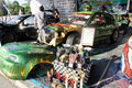 Modified cars on display in the city of solo central java indonesia Stock Photography
