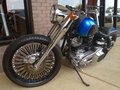 Modified custom motorcycle royal blue and gray Royalty Free Stock Photography