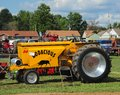 Modified Hot-Rod antique farm tractor. Royalty Free Stock Photo