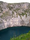 Modro jezero blue lake called near imotski town in croatia Stock Images