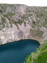Modro jezero blue lake called near imotski town in croatia Royalty Free Stock Photo