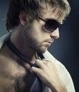 Mody mężczyzna portret Zdjęcia Stock